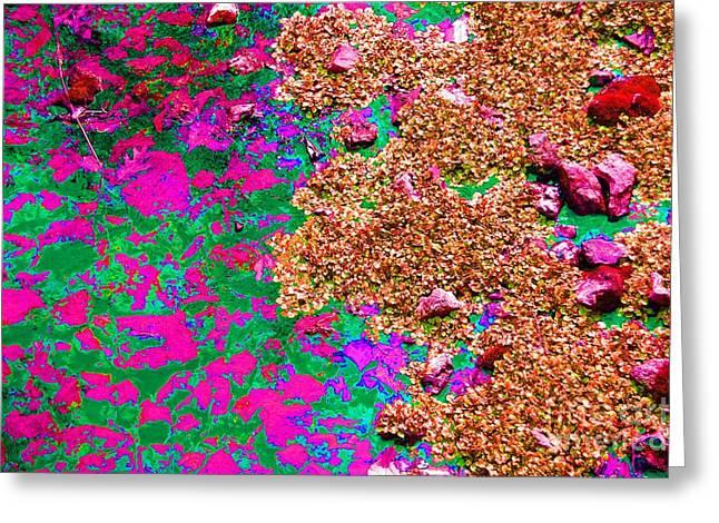 Warm Tones Digital Art Greeting Cards - Nature Abstract Greeting Card by Patty Vicknair