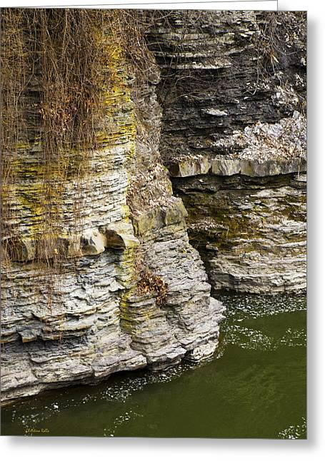 Nature Abstract Rock Cliffs Greeting Card by Christina Rollo