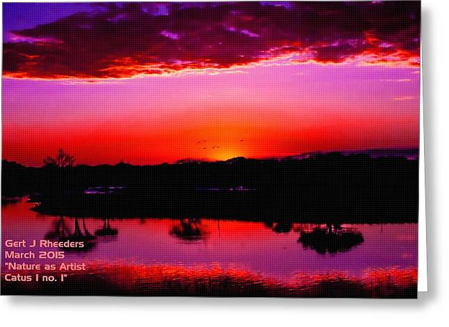 Cellphone Pastels Greeting Cards - Nature as Artist Catus 1 no.1 H a Greeting Card by Gert J Rheeders