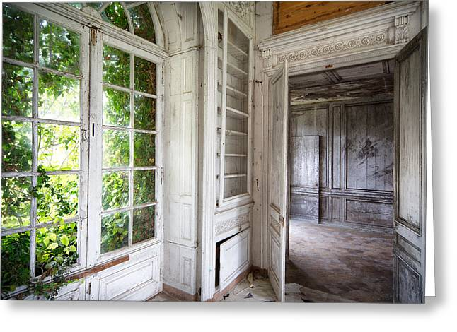 Nature Closes The Window - Urban Decay Greeting Card by Dirk Ercken