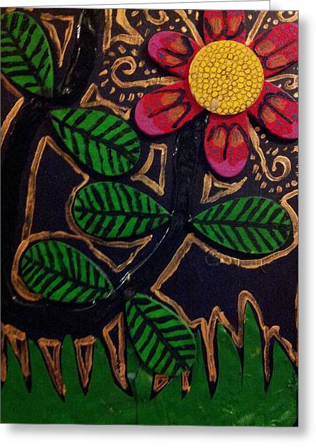 Nature Reliefs Greeting Cards - Nature eleven back Greeting Card by William Douglas