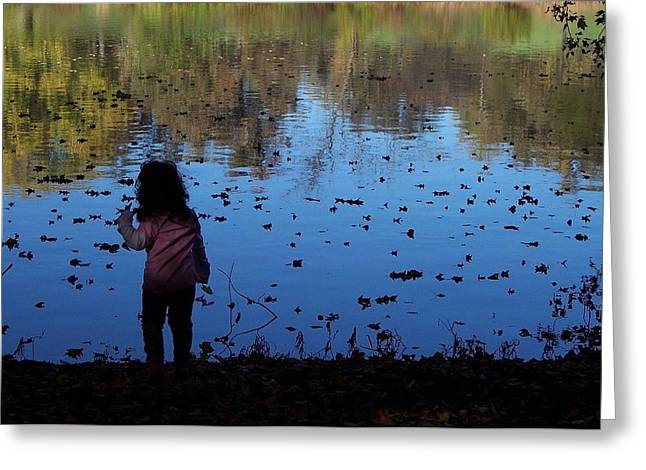 Floating Girl Photographs Greeting Cards - Nature Girl Greeting Card by Lyle Hatch