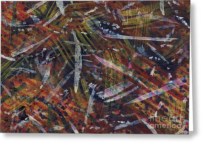 Abstract Nature Tapestries - Textiles Greeting Cards - Nature Memoir Greeting Card by TB Schenck