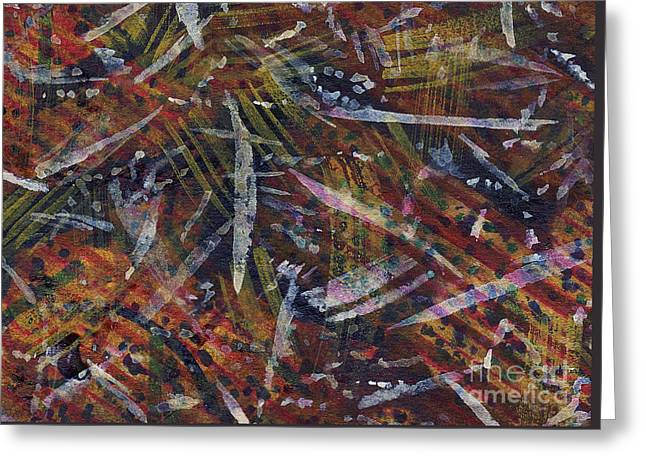 Nature Abstract Tapestries - Textiles Greeting Cards - Nature Memoir Greeting Card by TB Schenck