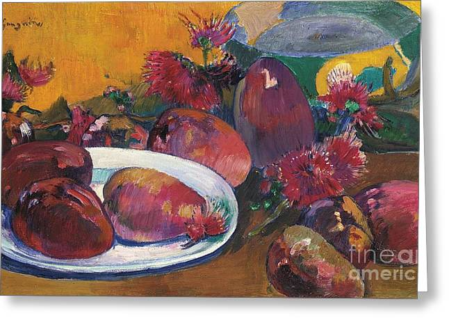 Mango Greeting Cards - Nature Morte Aux Mangos Greeting Card by Paul Gauguin