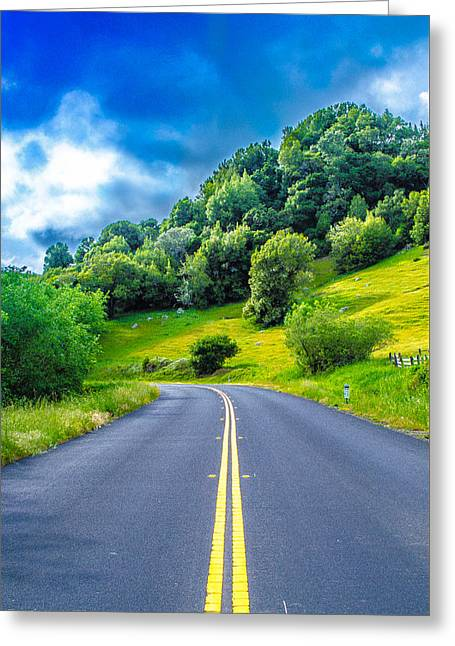 California Art Greeting Cards - Nature Road  Greeting Card by Jikaiah