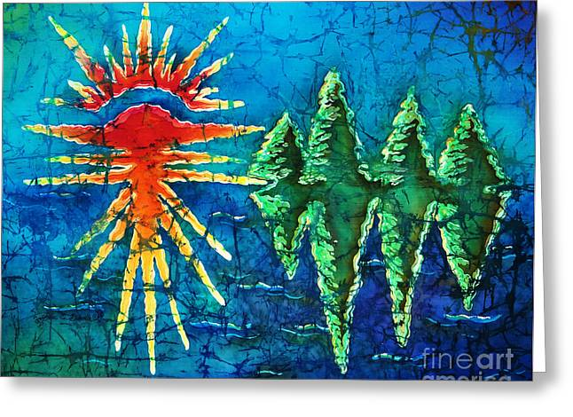 Lake Tapestries - Textiles Greeting Cards - Nature Greeting Card by Sue Duda