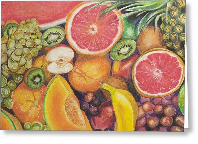 Grapefruit Pastels Greeting Cards - Natures Candy Greeting Card by Tavena Mejdouli