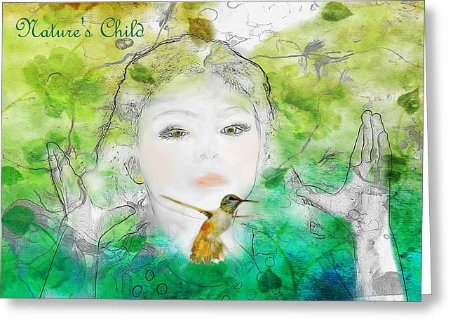 Hovering Greeting Cards - Natures Child Greeting Card by Barbara Chichester