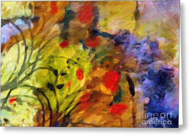 Nature Abstracts Greeting Cards - Natures Colorplay Greeting Card by Lutz Baar