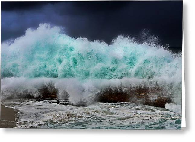 Nature's Fury Greeting Card by Russ Harris