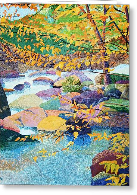 Pointillist Greeting Cards - Natures Gift Greeting Card by Barry Kadische
