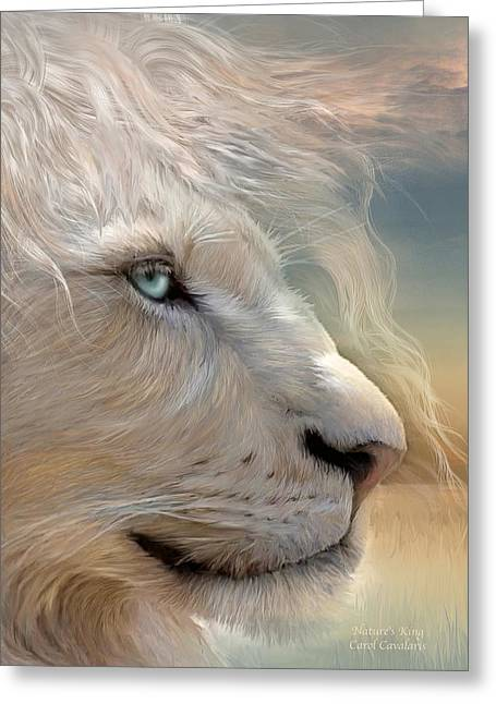 Big Cat Print Greeting Cards - Natures King Portrait Greeting Card by Carol Cavalaris