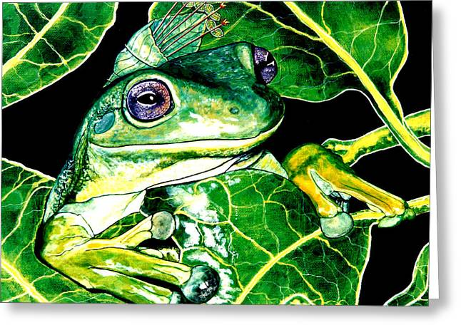 Debbie Chamberlin Greeting Cards - Natures Law  Greeting Card by Debbie Chamberlin