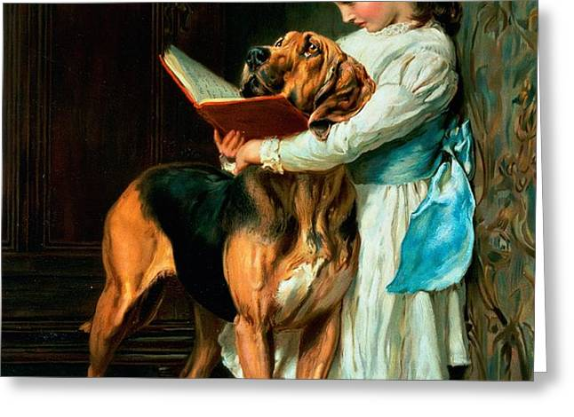 Naughty Boy or Compulsory Education Greeting Card by Briton Riviere