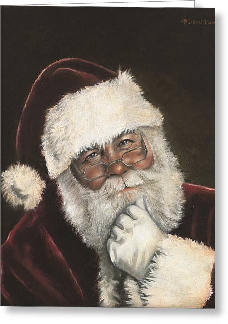 Christmas Eve Greeting Cards - Naughty or Nice Greeting Card by Jaren Johnson