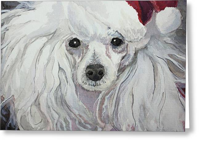 Toy Dog Greeting Cards - Naughty or Nice Greeting Card by Rachel Hames