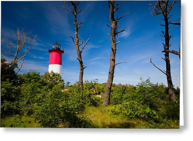 Cape Neddick Lighthouse Greeting Cards - Nauset Lighthouse 2 Greeting Card by Emmanuel Panagiotakis