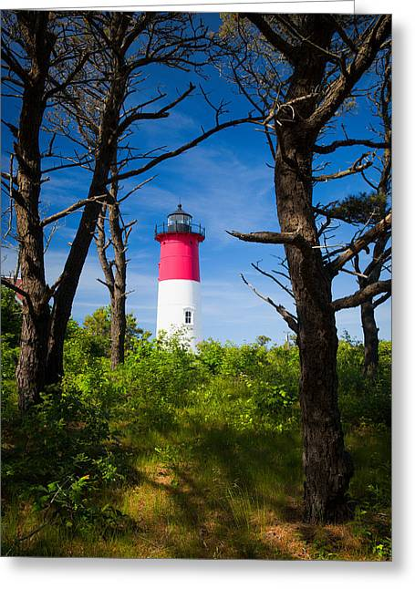 Cape Neddick Lighthouse Greeting Cards - Nauset Lighthouse Greeting Card by Emmanuel Panagiotakis