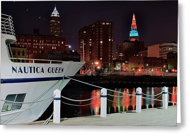 Cruise Terminal Greeting Cards - Nautica Queen Greeting Card by Frozen in Time Fine Art Photography