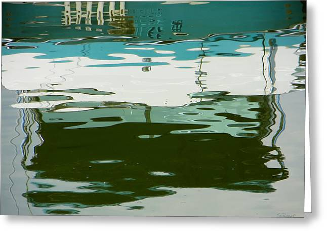 Boats In Reflecting Water Greeting Cards - Nautical Impressions Greeting Card by Shawna  Rowe