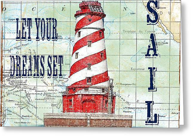 Pacific Ocean Prints Greeting Cards - Nautical Journey-JP3135 Greeting Card by Jean Plout