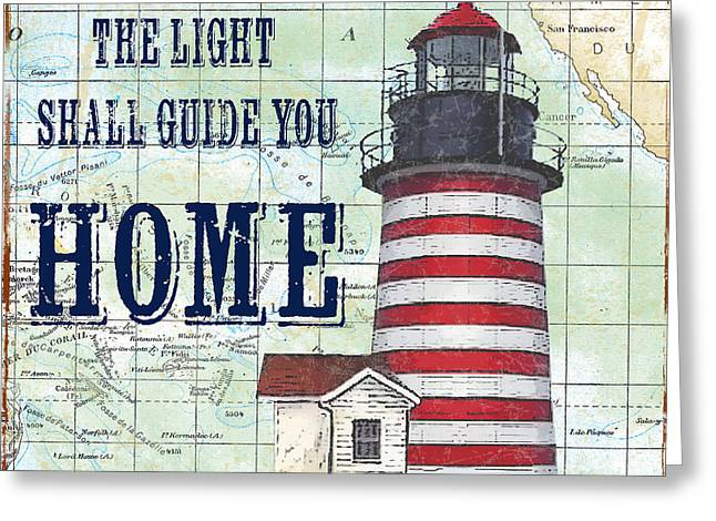 Pacific Ocean Prints Greeting Cards - Nautical Journey-JP3136 Greeting Card by Jean Plout