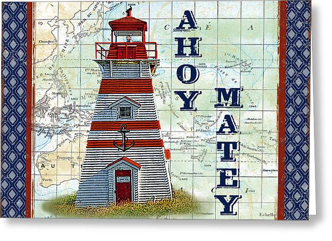 Ahoy Greeting Cards - Nautical Journey-JP3137 Greeting Card by Jean Plout