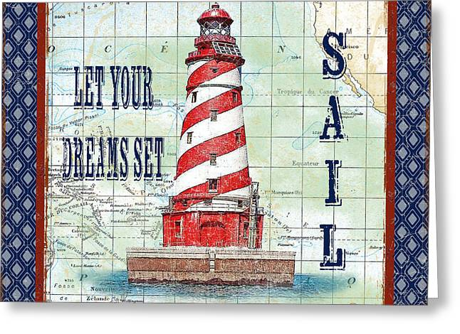 Pacific Ocean Prints Greeting Cards - Nautical Journey-JP3139 Greeting Card by Jean Plout