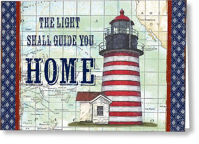Pacific Ocean Prints Greeting Cards - Nautical Journey-JP3140 Greeting Card by Jean Plout