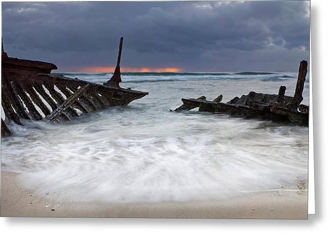 Wrecks Greeting Cards - Nautical Skeleton Greeting Card by Mike  Dawson