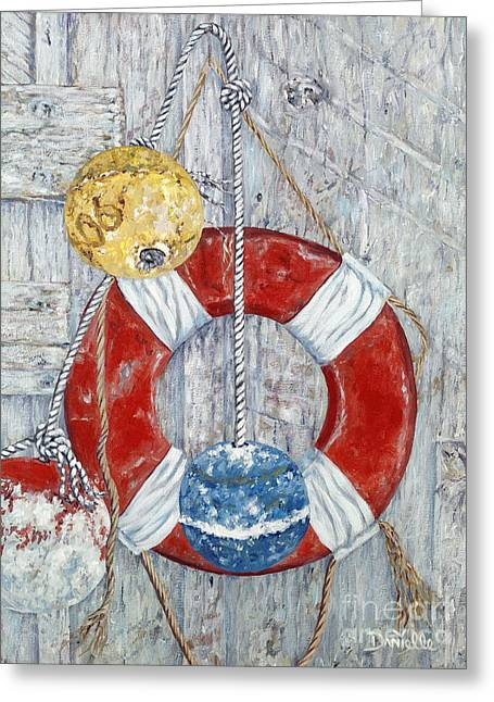 Danielle Perry Greeting Cards - Nautical Treasures Greeting Card by Danielle  Perry
