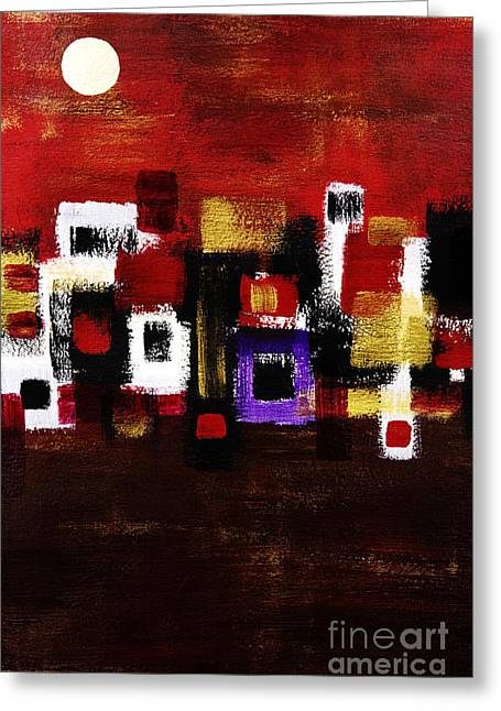 Burst Paintings Greeting Cards - Navaho Greeting Card by Tara Thelen - Printscapes