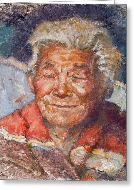 Elders Greeting Cards - Navaho Wisdom Greeting Card by Ellen Dreibelbis