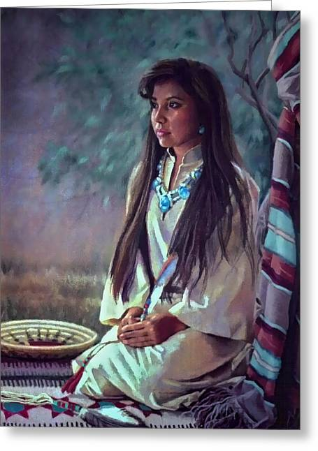 Navajo Beauty Greeting Card by Jean Hildebrant