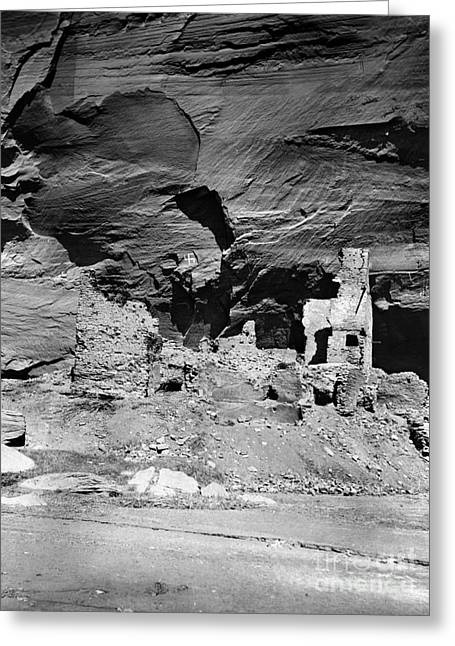 Early American Dwellings Greeting Cards - NAVAJO RUINS, c1907 Greeting Card by Granger
