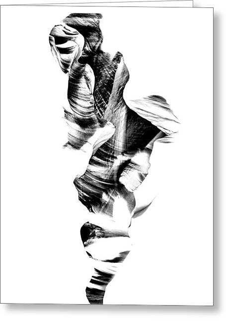 Abstracts Art Photographs Greeting Cards - Navajo Wanderer Inverted Greeting Card by Az Jackson