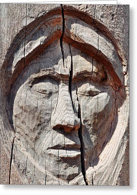 Navajo Woman Greeting Card by Kyle Hanson