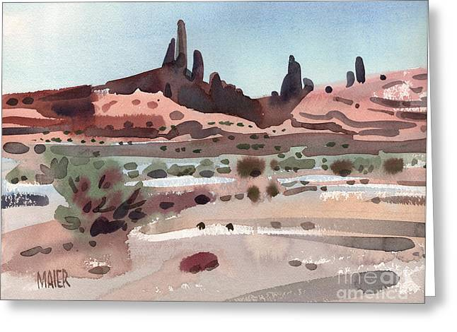 Butte Greeting Cards - Navajoland Greeting Card by Donald Maier