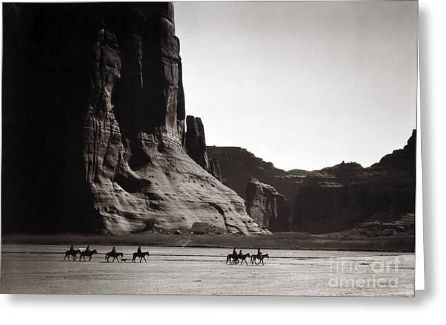 Edwards Greeting Cards - Navajos: Canyon De Chelly, 1904 Greeting Card by Granger
