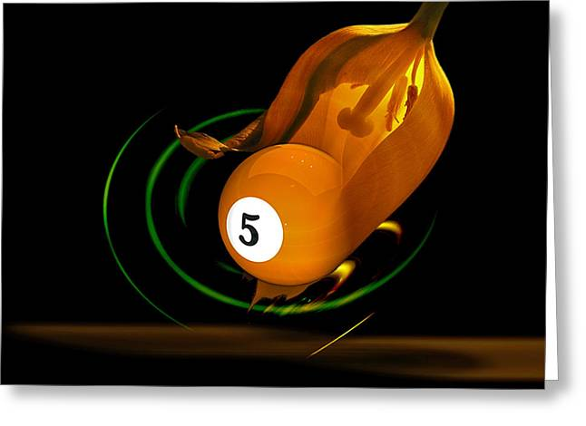 9ball Greeting Cards - Naval Orange Greeting Card by Draw Shots