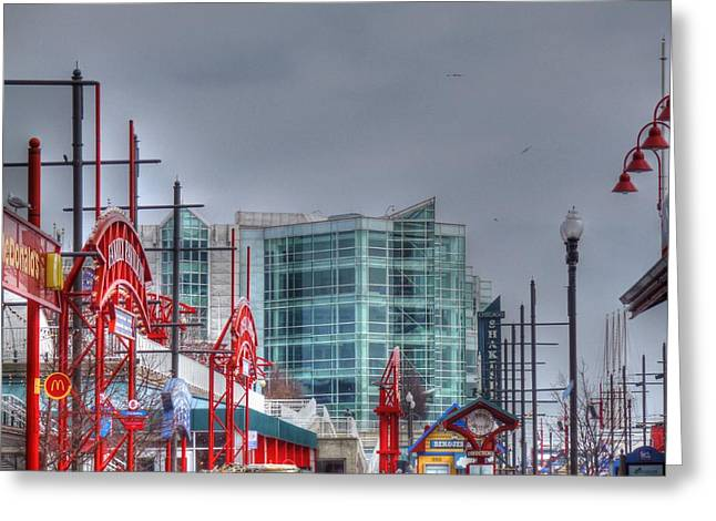 Barry R Jones Jr Digital Art Greeting Cards - Navy Pier Greeting Card by Barry R Jones Jr