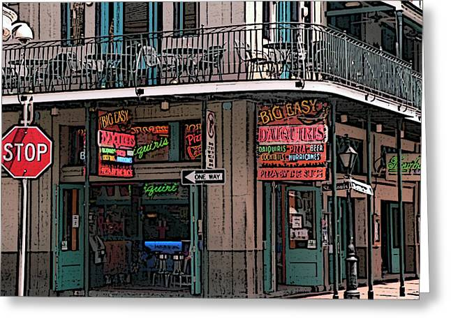 Bourbon Street Greeting Cards - Nawlins Greeting Card by David Bearden