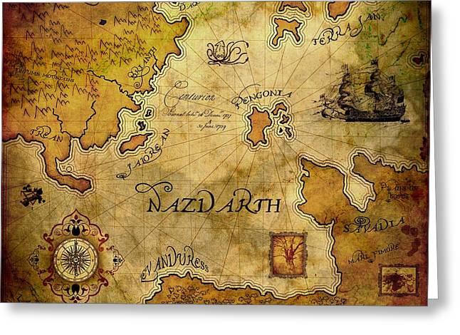 Nazdarth Greeting Card by Brett Pfister