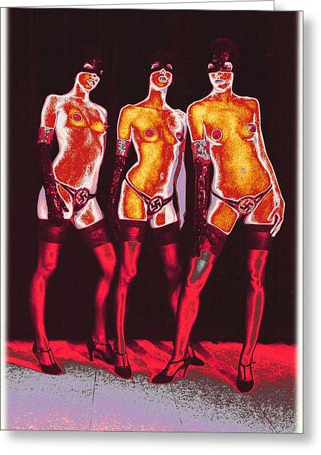 Federer Art Greeting Cards - Nazi Girls / 2 Greeting Card by Jean-Marie Bottequin