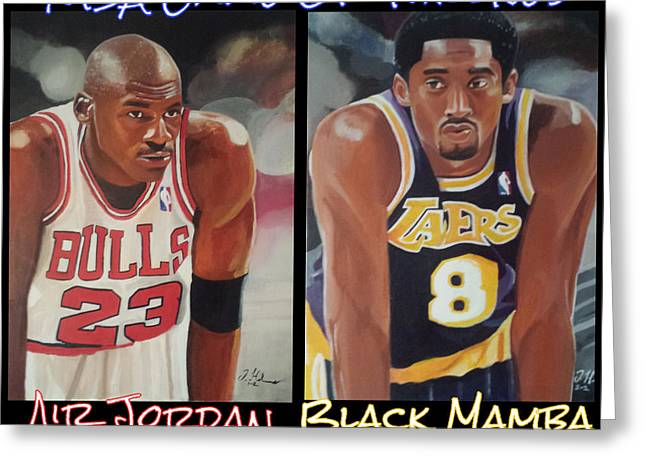 Bryant Paintings Greeting Cards - NBA Game Of Thrones Greeting Card by Jason Majiq Holmes