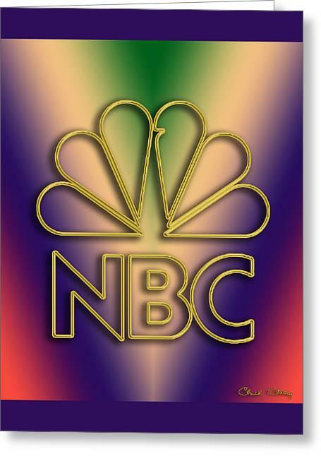 N B C Logo - Chuck Staley Greeting Card by Chuck Staley