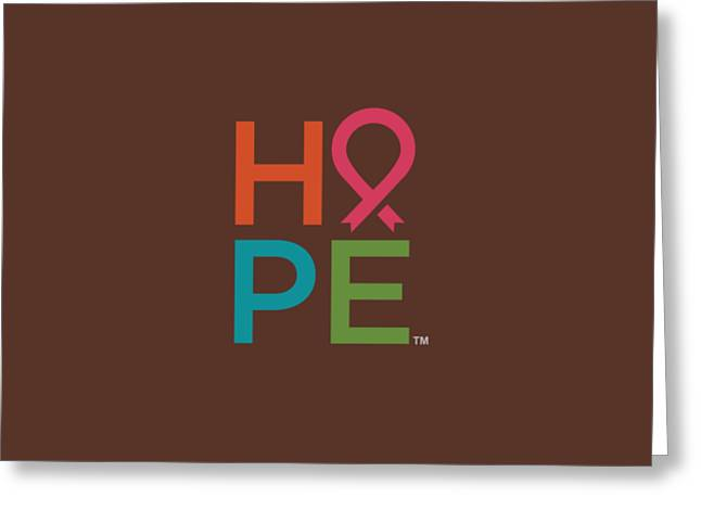 Nbcf Hope Colors Greeting Card by National Breast Cancer Foundation