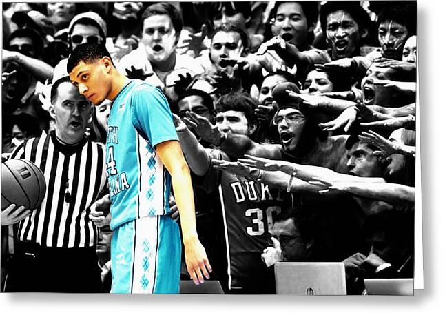 Nc Tarheel Under Pressure 1a Greeting Card by Brian Reaves