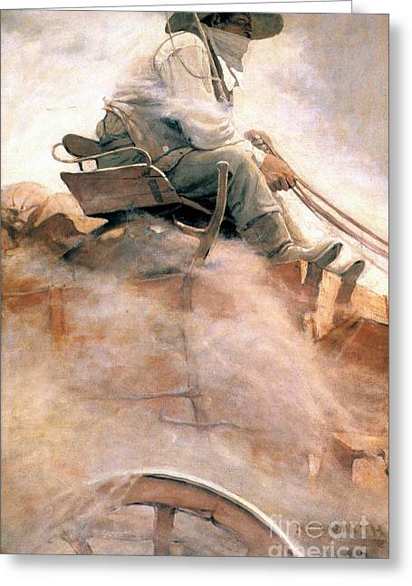 N.c. Wyeth: Ore Wagon Greeting Card by Granger